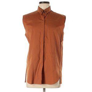 3.1 Phillip Lim Rust Sleeveless Button-Down Shirt